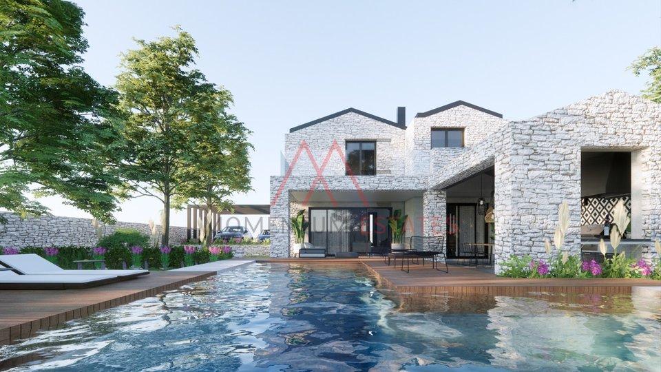 Krk, modern villa with pool