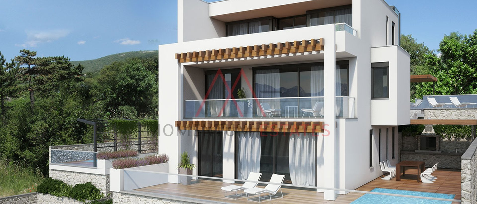 Unique new apartment with pool, Crikvenica