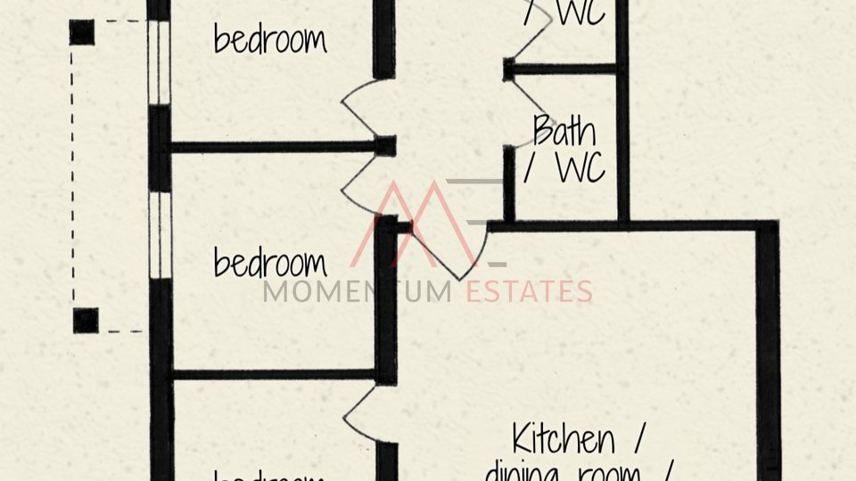Stanovanje, 68 m2, Prodaja, Njivice