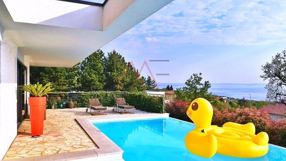 Kostrena, stylish villa with seaview